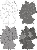 Germany map set