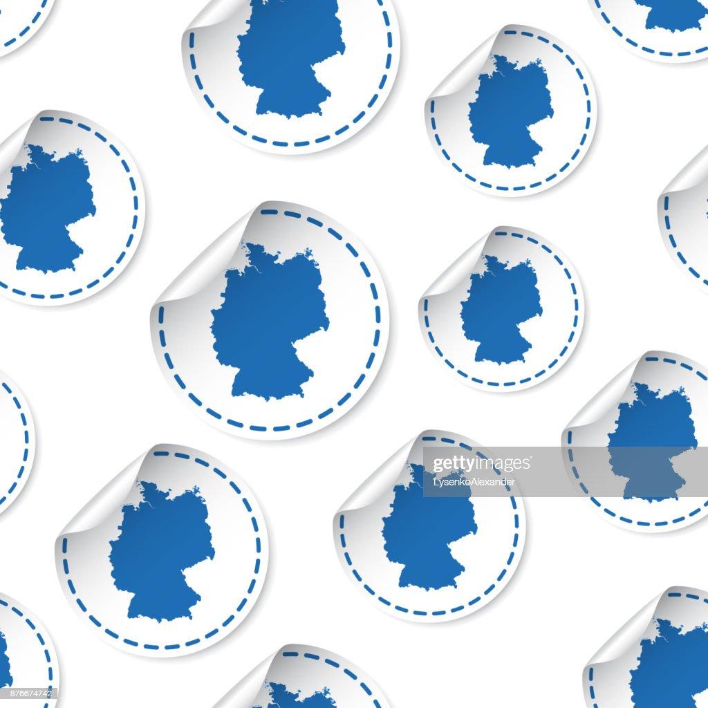 Germany map sticker seamless pattern background business concept germany map sticker seamless pattern background business concept label pictogram germany map symbol pattern gumiabroncs Images