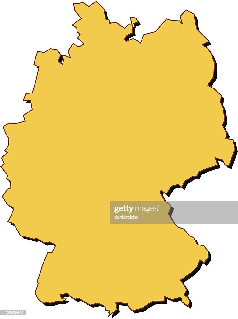 germany map : stock illustration