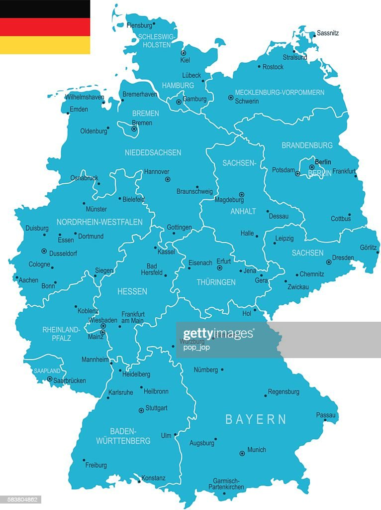 Germany Map Vector Art Getty Images