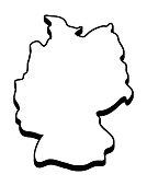 Germany map vector symbol icon  design.