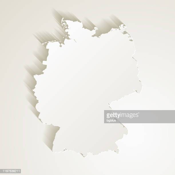 germany map with paper cut effect on blank background - germany stock illustrations