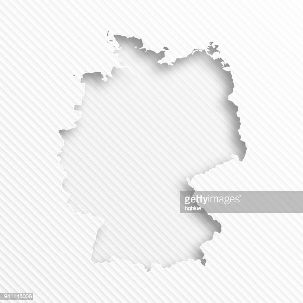 germany map with paper cut on abstract white background - germany stock illustrations, clip art, cartoons, & icons