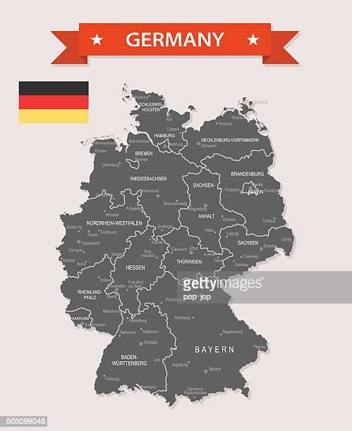 Allemagne et la vieille carte-Illustration