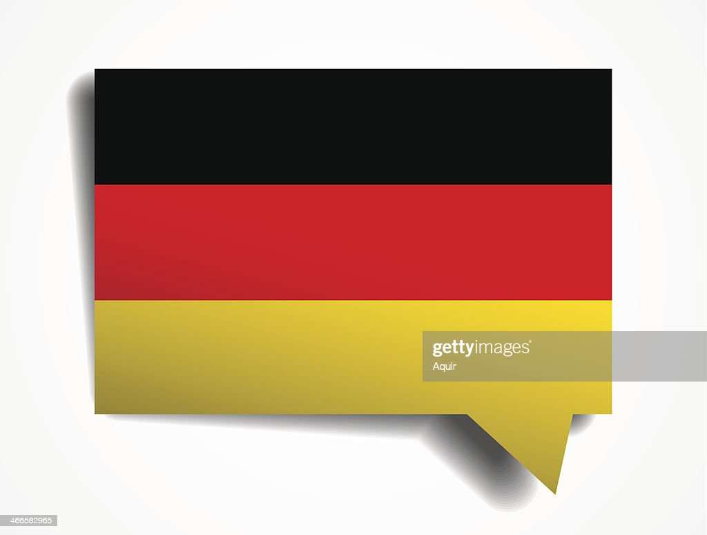 germany paper 3d realistic speech bubble on white background