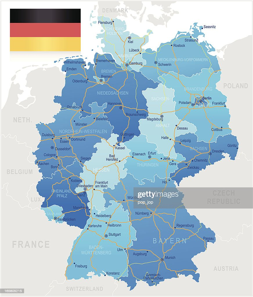 Germany Road Map Vector Art Getty Images