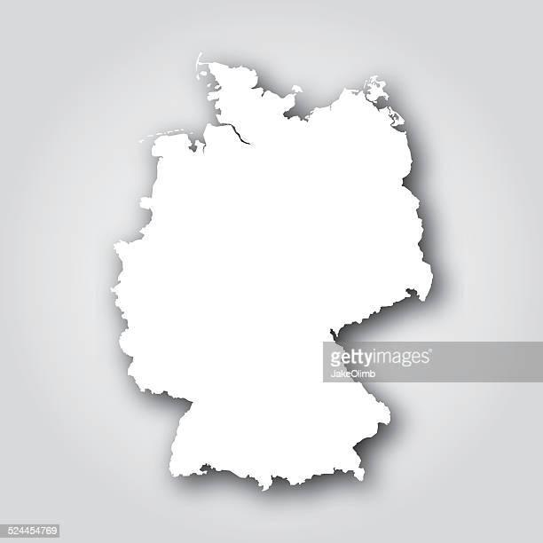 deutschland silhouette weiß - deutschland stock-grafiken, -clipart, -cartoons und -symbole