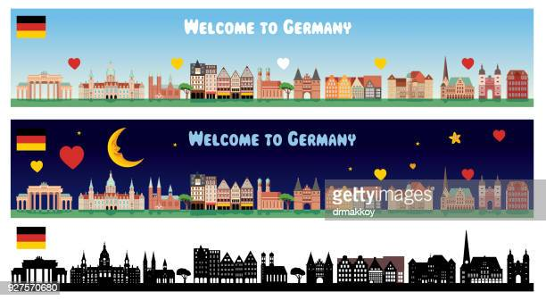 germany skyline - germany stock illustrations