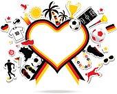 Germany soccer fan heart