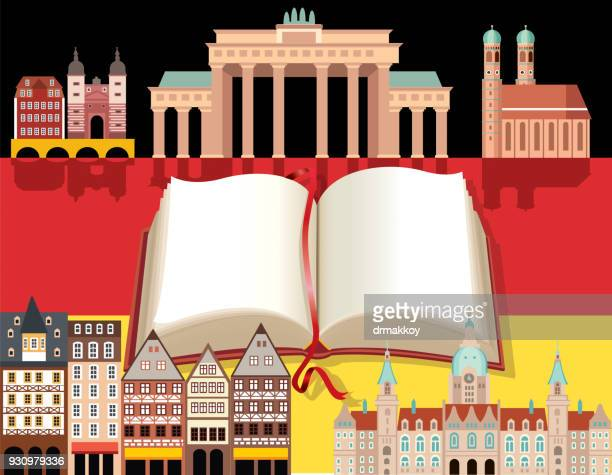 germany symbols - brandenburg gate stock illustrations, clip art, cartoons, & icons