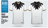 Germany Team Polo t-shirt sport template design for soccer jersey, football kit or sportwear. Classic collar sport uniform in front view and back view. T-shirt mock up for sport club.