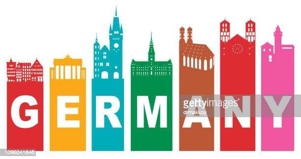 germany travel - brandenburg gate stock illustrations, clip art, cartoons, & icons