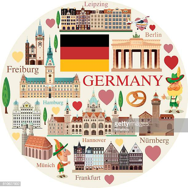 germany travels - brandenburg gate stock illustrations, clip art, cartoons, & icons