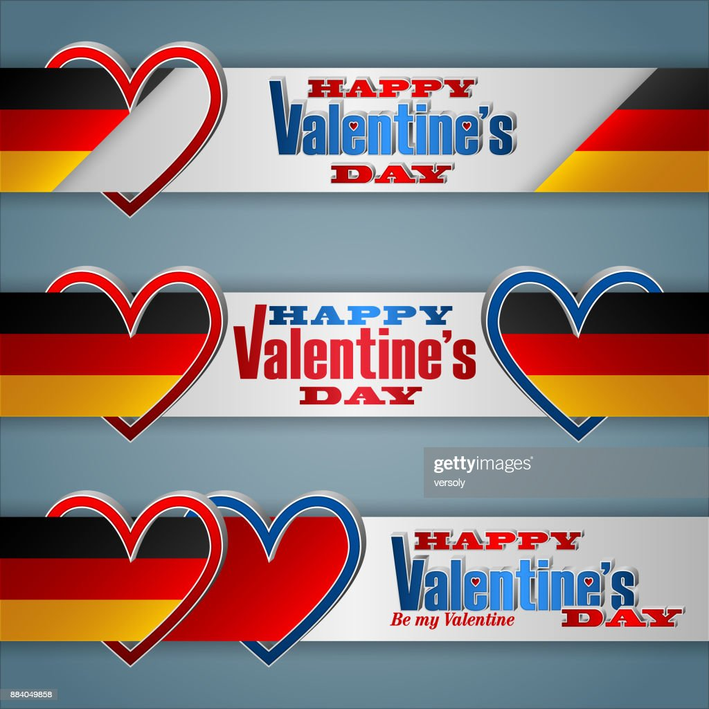 germany valentines day celebration web banners vector art