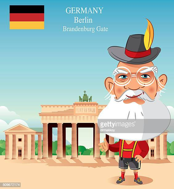 germany - brandenburg gate stock illustrations, clip art, cartoons, & icons