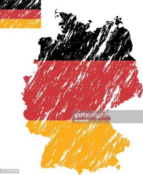 deutschland - deutsche flagge stock-grafiken, -clipart, -cartoons und -symbole
