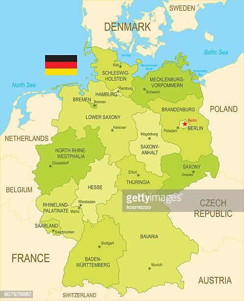 illustrazioni stock, clip art, cartoni animati e icone di tendenza di la germania  - germania dell'ovest