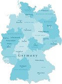 Germany Vector Map Regions Isolated