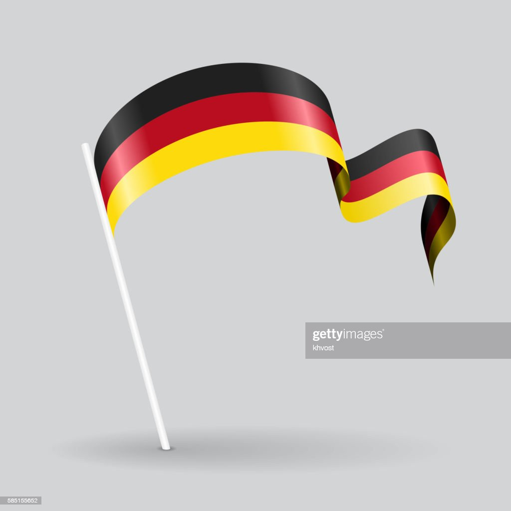 Germany wavy flag. Vector illustration.