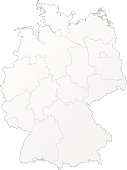 Germany white map