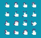 Gesture icon set