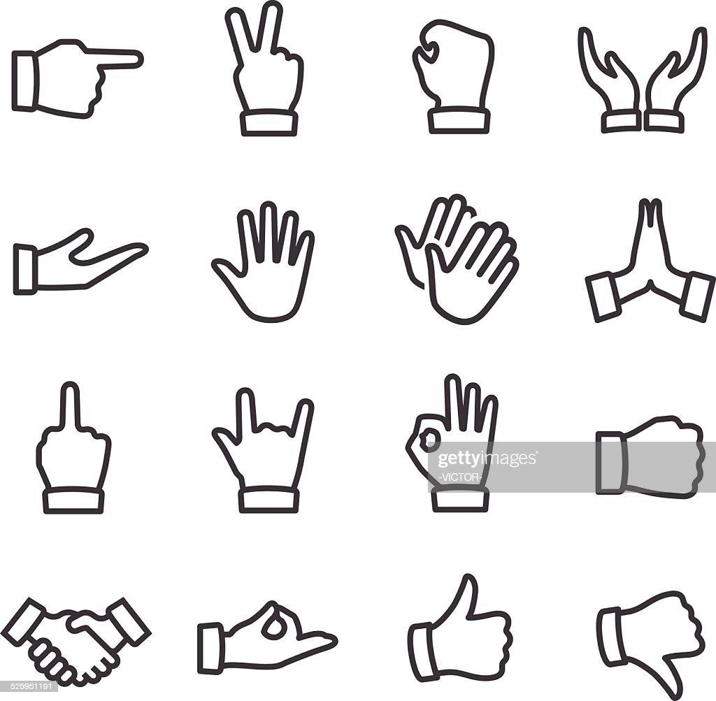 Gesture Icons - Line Series