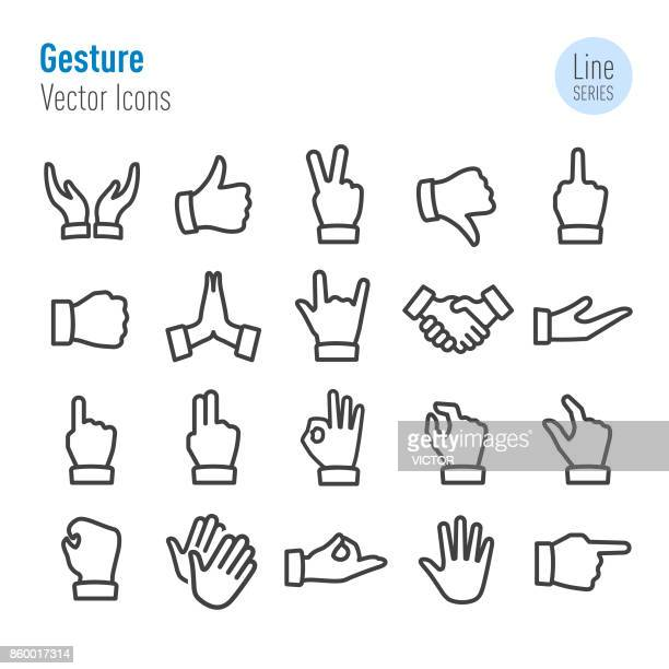 Gesture Icons - Vector Line Series