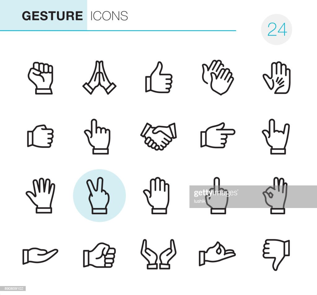 Gesture - Pixel Perfect icons : Stock Illustration