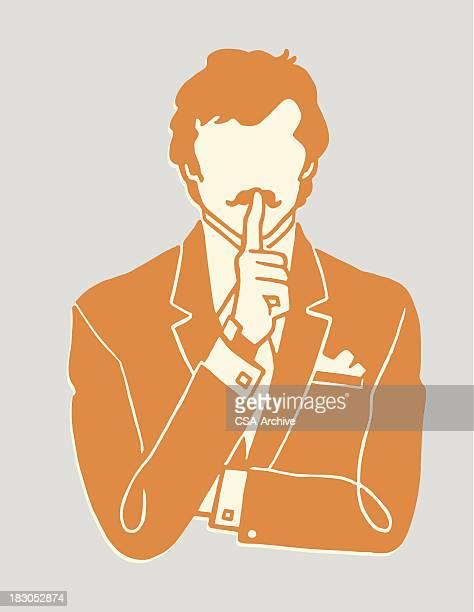 ilustrações, clipart, desenhos animados e ícones de gesture to be quiet - silêncio