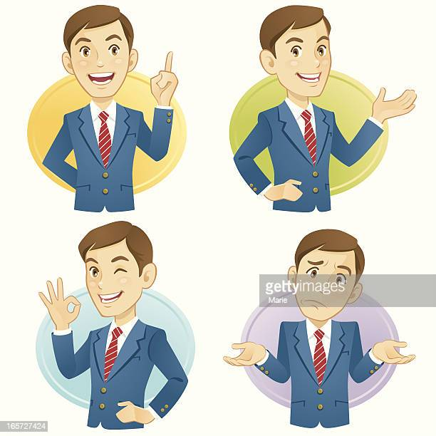 gesturing businessmen - shrugging stock illustrations, clip art, cartoons, & icons