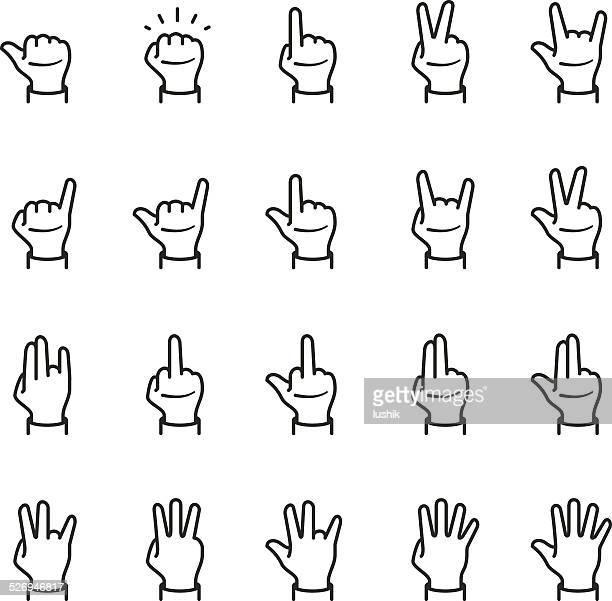 illustrations, cliparts, dessins animés et icônes de gestes icône - doigt dhonneur