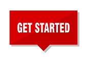 get started red tag