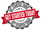 get started today stamp. sign. seal