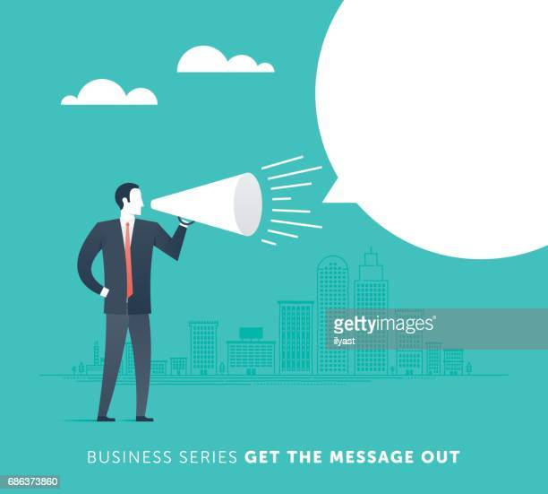 get the message out - small business stock illustrations