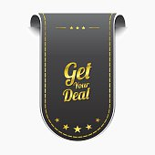 Get Your Deal golden Vector Icon Design