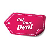 Get Your Deal Pink Vector Icon Design