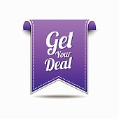 Get Your Deal Violet Vector Icon Design