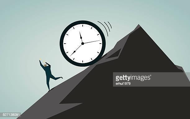 日常から抜け出す、エスケープ、締め切り、ビジー、時計、時間