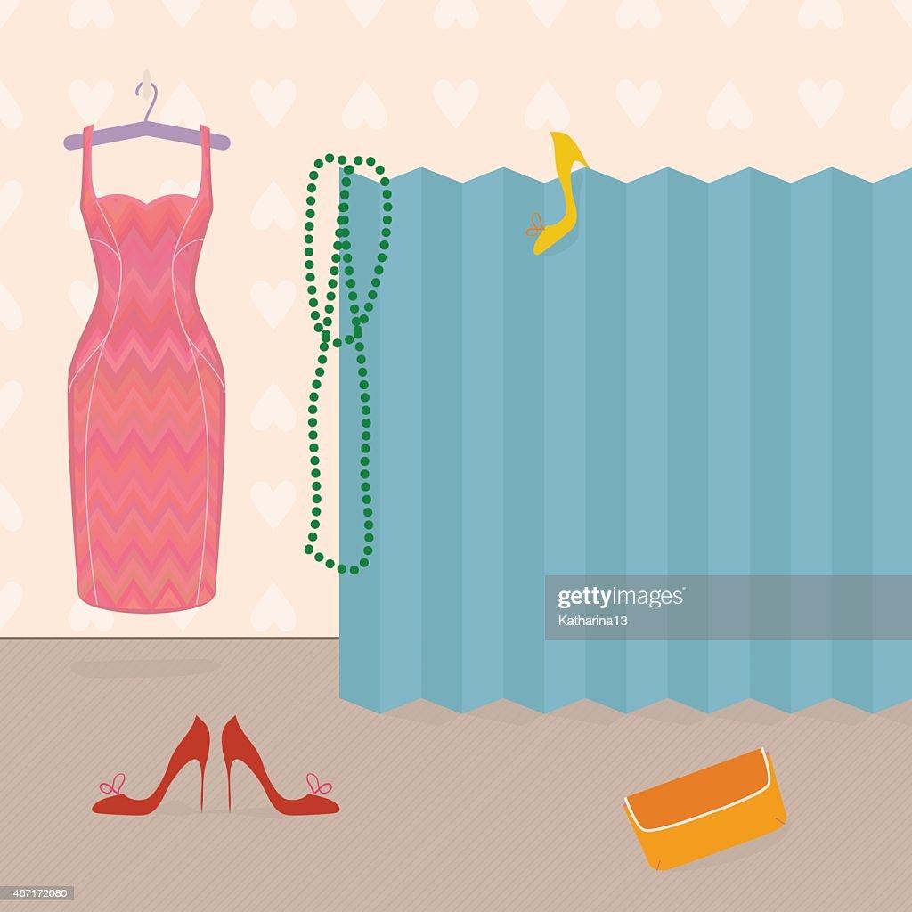 Getting dressed, girl's boudoir