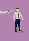 Getting Fired Cartoon Vector Illustration