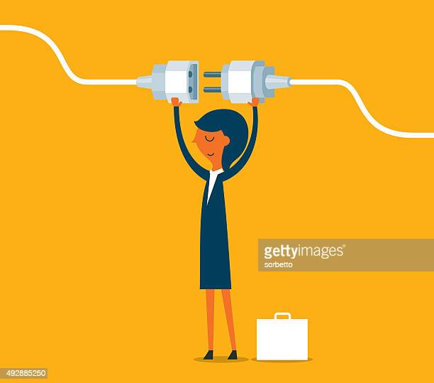 getting plugged in - electric plug stock illustrations, clip art, cartoons, & icons