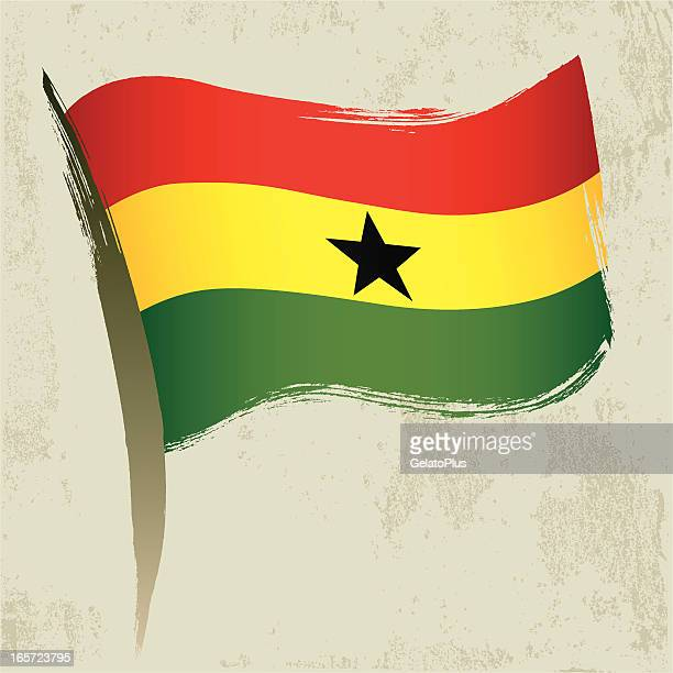 ghana flag - ghana stock illustrations, clip art, cartoons, & icons