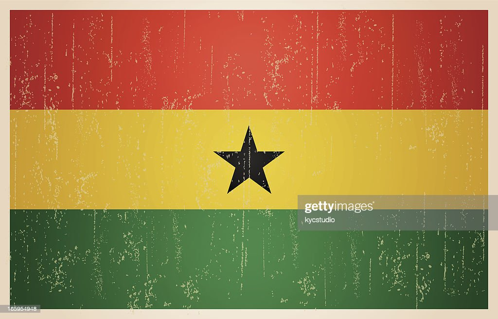 Ghana grunge vintage flag : Stock Illustration