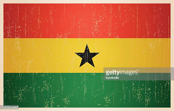 ghana grunge vintage flag - ghana stock illustrations, clip art, cartoons, & icons