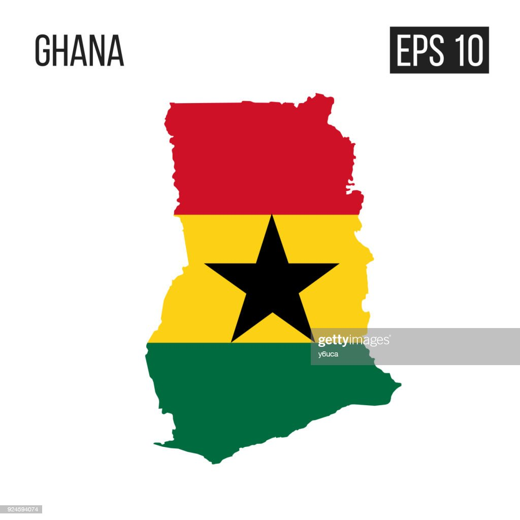 Map Australia 4074.Ghana Map Border With Flag Vector Eps10 Vector Art Getty Images