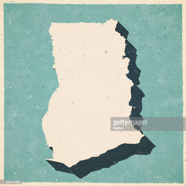 ghana map in retro vintage style - old textured paper - accra stock illustrations, clip art, cartoons, & icons