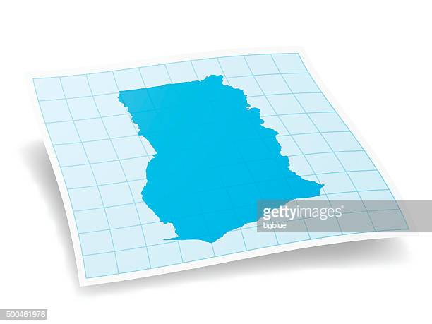 ghana map isolated on white background - ghana stock illustrations, clip art, cartoons, & icons
