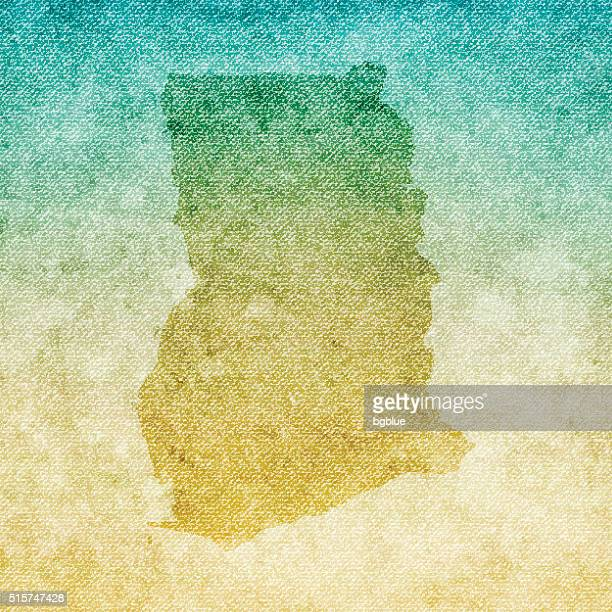 ghana map on grunge canvas background - accra stock illustrations, clip art, cartoons, & icons
