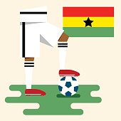 Ghana national soccer kit and flag