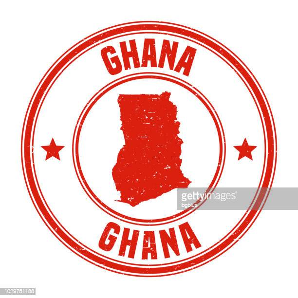 ghana - red grunge rubber stamp with name and map - ghana stock illustrations, clip art, cartoons, & icons